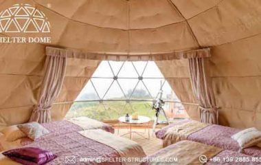 6m dome cabin with custom pvc fabric sale forglamping resort-in Japan spherical tent for2 4 people accommodation