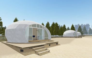 Beach dome tent for vacation