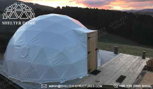 6m geodesic dome dome cabin for glamping resort living dome rental airbnb booking in australia