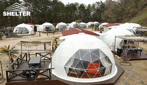 Shelter-geodesic-dome-tent-glamping dome-eco-living dome-house