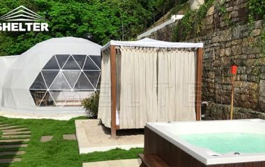 geodesic colombia glamping dome outer lodge